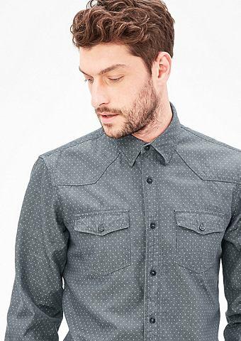 Regular: рубашка с Musterstruktur