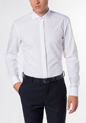 Длинный рукав рубашка »SLIM форм...