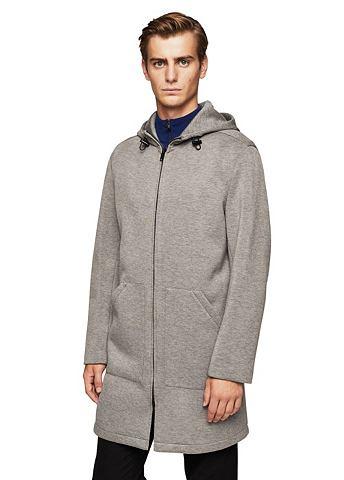 Mottled hood пальто