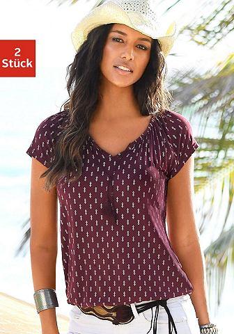 Блуза (2 единицы повторяющийся узор и ...