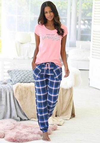Пижама с клетчатый шортики