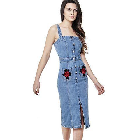 Платье джинсовое вышивка