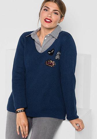 Shee GOTit пуловер с V-образным вырезо...