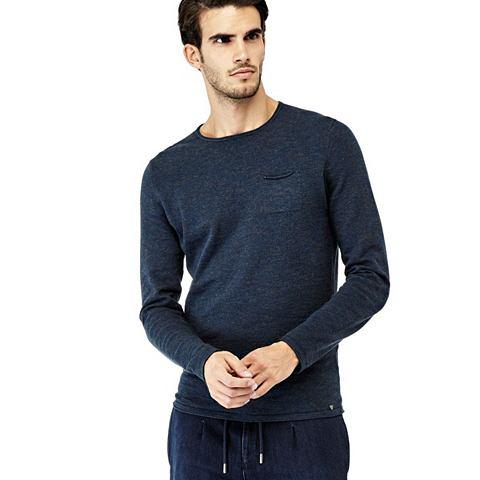 Пуловер из хлопка карман