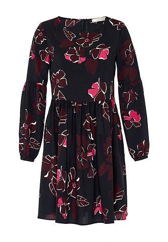 Платье с цветочным принтом из крепа de...