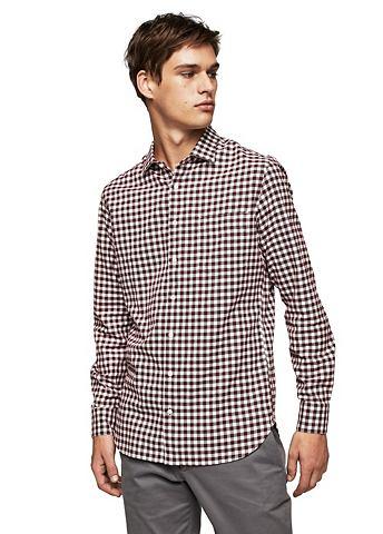 Узкий форма фланелевая рубашка с клетч...