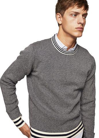 Пуловер с Kontrastborten