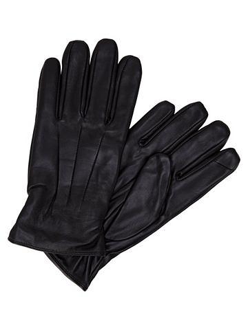 Jack & Jones кожа перчатки