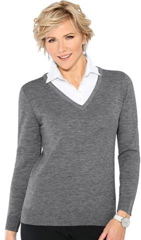 Пуловер в модный 2-in-1-Optik