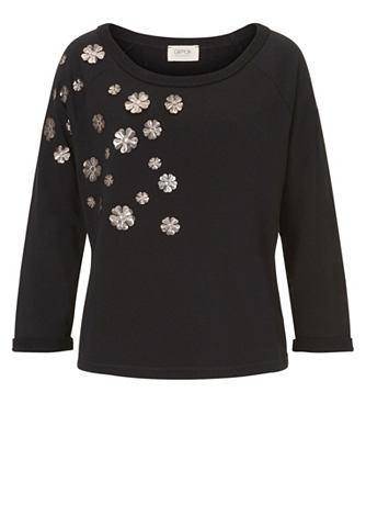 Пуловер с silbernen Blumenpatches