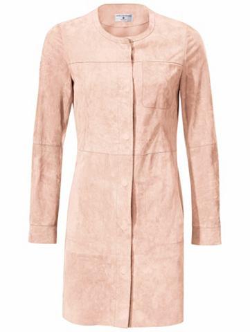 Пальто кожаное Ziegenvelours с карман