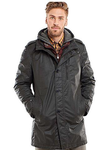 Пальто с качествeнный ткань восковым п...