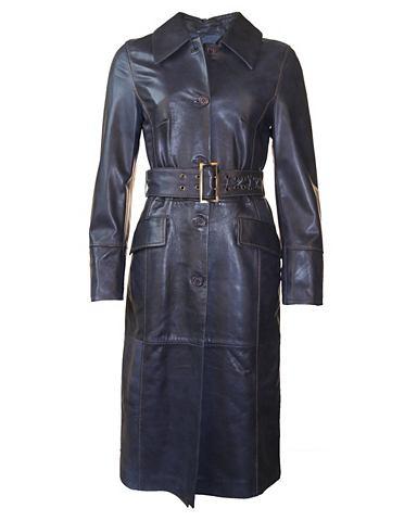 Пальто кожаное с прямой фасон »C...