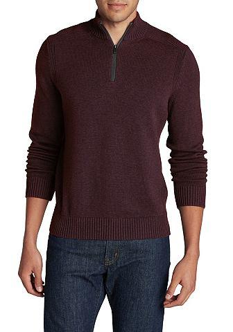 Пуловер с воротником-стойкой из Feinst...