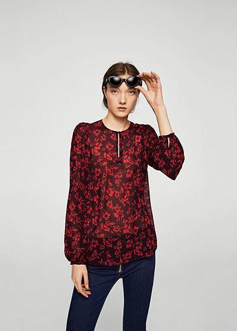 Блуза с c цветочным узором