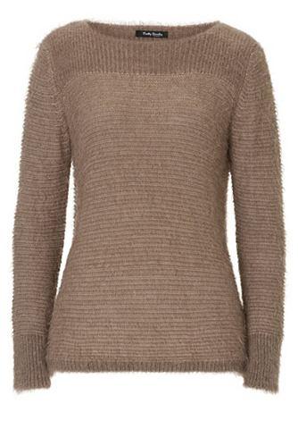 Пуловер трикотажный с Struktur