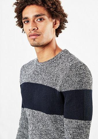 Пуловер трикотажный с полоску