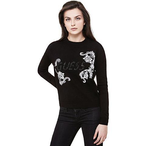 Пуловер с логотипом с вышивка