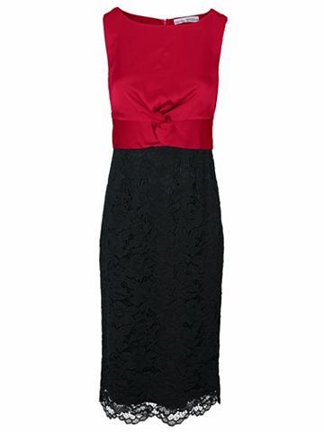 Кружевное платье с атлас