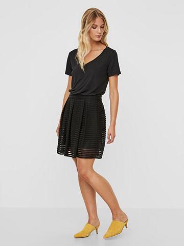 Короткий полосатый юбка