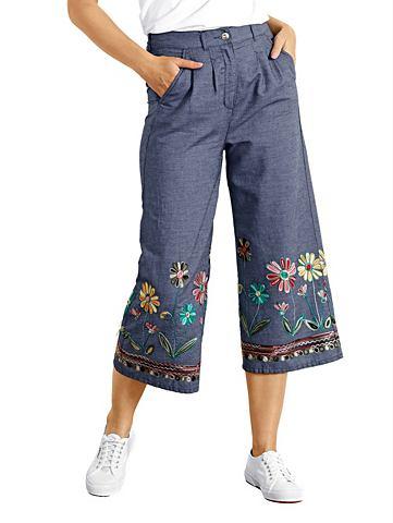 Юбка-брюки с aufwendiger цветочнaя выш...
