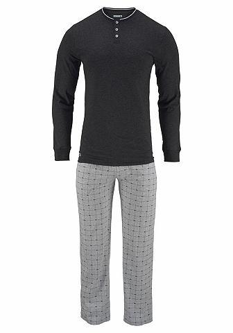 Пижама длинa с Logo в клетку брюки
