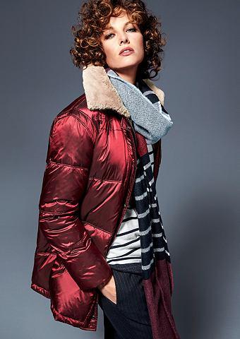 Блестящий пальто пуховое