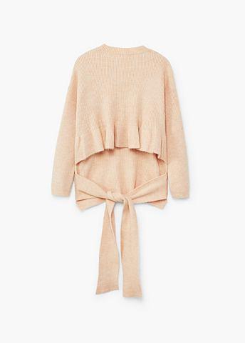 Пуловер с бант