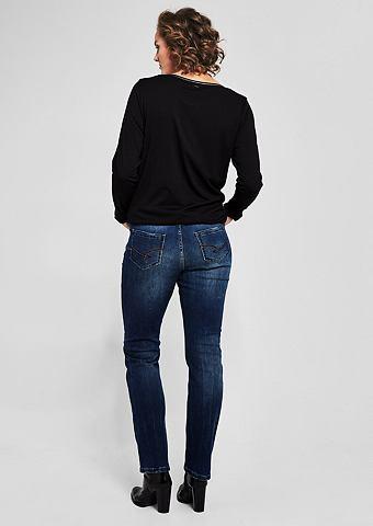 Curvy Зауженные джинсы с имитация терт...