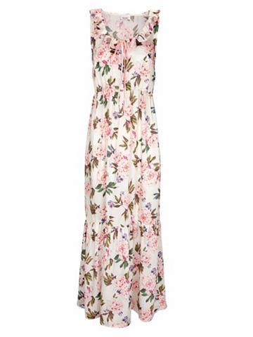 Платье-макси длинное с цветочный узор