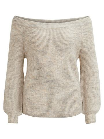 С открытыми плечами пуловер