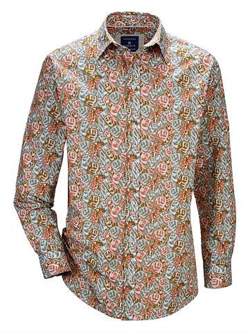 Рубашка с цветочный Druckmuster