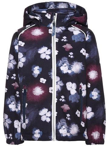С цветы с узором Alfa- куртка мягкая