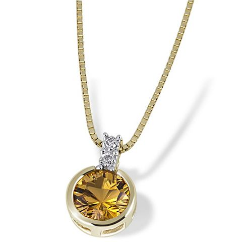 GOLDMAID Ожерелье 585/- Gelbgold 1 Citrin 2 Dia...