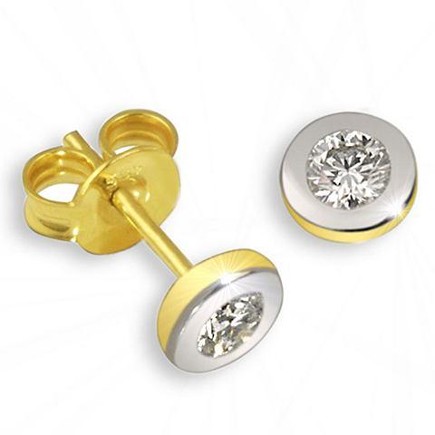 GOLDMAID Пары серьги-гвоздики Bicolor 375 Gold ...