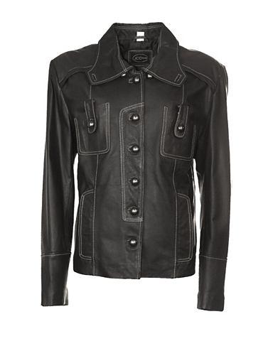 Куртка кожаная с красивый воротник &ra...