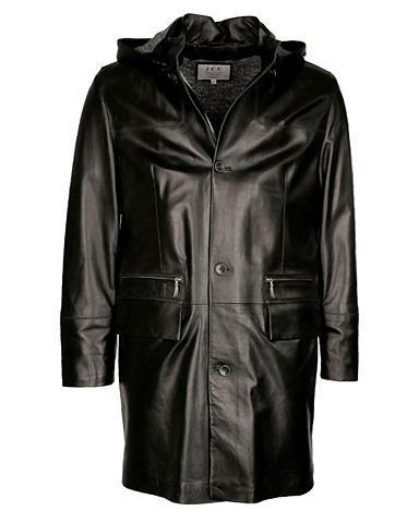 Пальто кожаное с съемный капюшон &raqu...