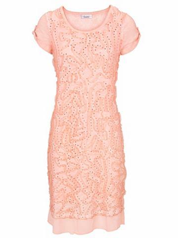 Платье со вставками с с пайетками