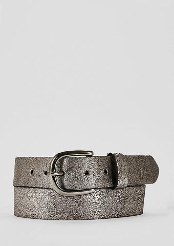 Ремень кожаный в Metallic-Look