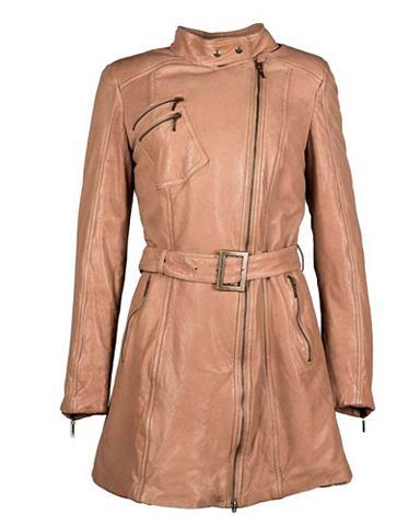 Пальто кожаное с ремень »LM/69/2...