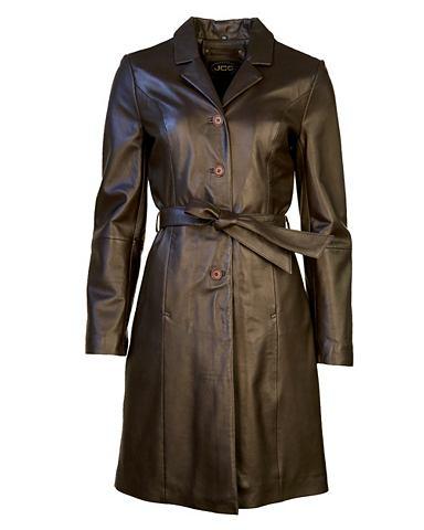 Пальто кожаное с пояс »D-39&laqu...