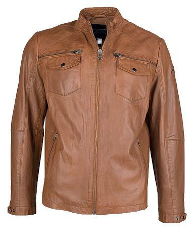 JCC Куртка кожаная с komfortablen карман &...