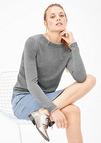 Пуловер в слоистый-стиль