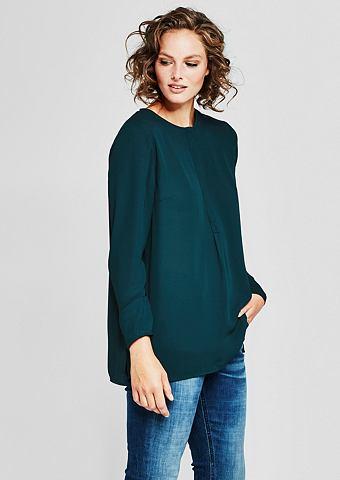 Lockeres блузка-рубашка из крепа