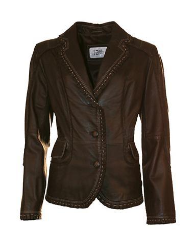 Пиджак кожаный с пуговицы »18001...