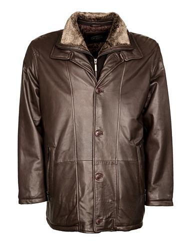 Куртка кожаная с мягкий воротник в Ech...