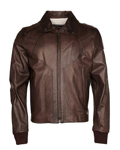 Куртка кожаная с praktischem воротник ...