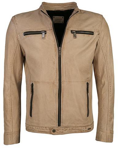 Куртка кожаная с замок на рукав &raquo...