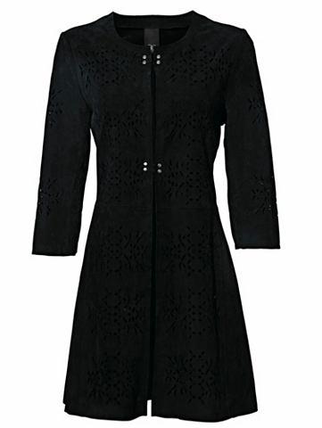Пальто кожаное велюр