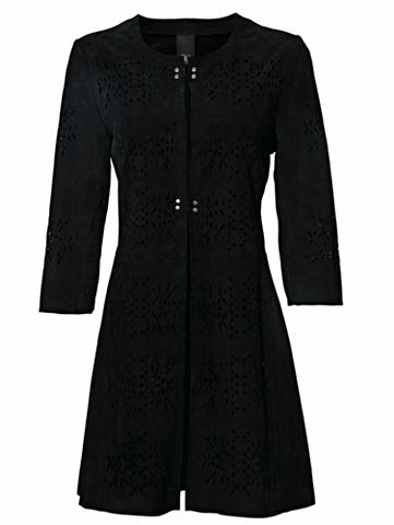 HEINE CASUAL пальто кожаное kragenlos